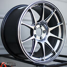 17X8 +45 ROTA TITAN 5X1143 HYPER BLACK WHEEL FITS MAZDA SPEED 3 5 6 MIATA MX 5