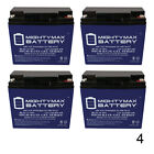 Mighty Max 4 Pack 12V 22AH GEL Battery for Zappy Classic Scooter