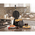 Hamilton Beach Flip Kitchen Belgian Waffle Maker Machine with Removable Grids