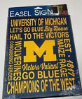 NCAA MICHIGAN UNIVERSITY OF MICHIGAN EASEL SIGN 6X9 WINCRAFT
