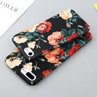 Glossy Rose Floral Flower Pattern Thin PC Hard Case Cover For iPhone 6 6s 7 Plus