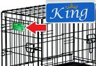 Personalized Dog Crate Nameplate Vinyl Decal Free ShippingPrice Lowered