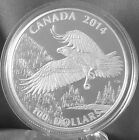 2014 Canada 1 Oz Fine Silver Coin Bald Eagle Face Value 100 NO TAX