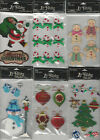 U CHOOSE Assorted La Petites CHRISTMAS  WINTER 3D Stickers bells santa