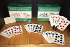 Fitz and Floyd Game Night Snack Plates Playing Cards Bridge Appetizers Set of 4