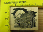 Rubber Stamp Haunted House In Moon Light Halloween VLVS Stampinsisters 3907