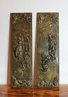 Vintage ELPEC Brass Repousse Wall Plaques Set of 2 Made in England 14.5