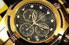 Invicta Reserve 52mm Bolt Zeus Swiss Gold Tone Gunmetal Wires Black Dial Watch