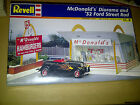 Revell 1/25th sc McDonald's Diorama & 1932 Ford Street Rod Sealed Kit NOS 1/24
