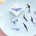 45 PCs Set Decoration Blue Whale Fish Scrapbooking Paper Seal Sticker Label