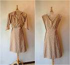1950S Vintage Dress & Bolero NEEDS MENDING & LOVE TOO CUTE bust 40