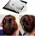 6Pcs Girl Elastic Rubber Spiral Hair Ties Black Clear Coil Creaseless Traceless