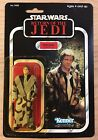 Star Wars Return of the Jedi Kenner Han Solo Trench Coat Punched 79 Back 1984