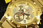 Invicta Speedway XL Viper Champagne Chronograph Dial Swiss Gold Tone SS Watch