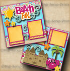 BEACH vacation 2 premade scrapbook pages for album layout scrapbooking DIGISCRAP