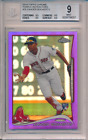 2014 Topps Chrome Purple Refractor Xander Bogaerts Rookie RC #25 BGS 9 9.5 Subs