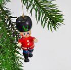 Vintage Wooden Christmas Decor Toy Soldier Red Black Wood Ornament