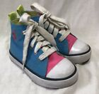 Polo Ralph Lauren Harbour High Tops Sneakers Toddlers 7 Florescent Booties Shoe