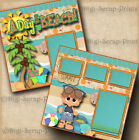 BEACH BOY 2 pre made scrapbook pages layout paper piecing DIGISCRAP A0086