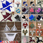 Sexy Womens Two-Piece Swimsuit Bikini Set Bandage Thong Swimwear Beachwear Bath