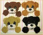 4 BEARS MULBERRY TEAR BEAR PAPER PIECING SCRAPBOOKING PAGE