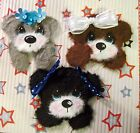 3 Peeking Girls BEARS MULBERRY TEAR BEAR PAPER PIECING SCRAPBOOKING PAGE