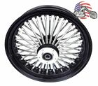 Black 18 X 35 48 Fat King Spoke Rear Wheel Rim Harley Touring Softail Bagger