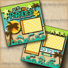 PARADISE beach 2 premade scrapbook pages vacation travel layout DIGISCRAP A0093