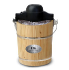 Ice Cream Maker 6 Quart Old-Fashioned Manual Electric Yogurt and Sorbet Machine