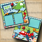 MY BOY 2 premade scrapbooking pages paper piecing layout baby BY DIGISCRAP