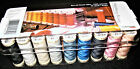GUTERMANN 26 SPOOL MULTI COLOR THREADS NO BREAK 50wt ACRYLIC STORAGE BOX NEW