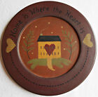 Home Is Where the Heart Is Becca Barton wooden plate 9.5