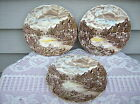 Vintage Johnson Brothers Olde English Countryside ~ 3 BREAD & BUTTER PLATES