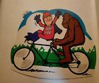 1987 Bud Man with Bigfoot Tandem Bike Promo Sticker Appox 55  6 BUDWEISER