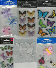 U CHOOSE Assorted BUTTERFLIES 3D Stickers ladybug dragonfly bee