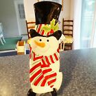 $26 Christmas Fitz & Floyd Snack Therapy Snowman Platter Server Appetizer Plate