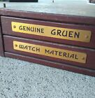 Gruen Cabinet RARE with parts and list vintage metal NOS pieces
