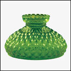 10 in GREEN DIAMOND QUILT GLASS SHADE fits ALADDIN LAMPS RAYO BH PA  More