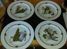 LOT4: Set of 4 Fitz & Floyd Christmas plates