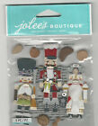Jolees NUTCRACKERS 3D Stickers Christmas nuts