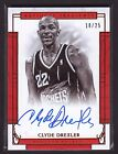Clyde Drexler 16-17 National Treasures Bronze On Card Auto 18 25 Trailblazers SP