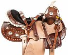 NEW 14 15 16 ROUND SKIRT BARREL RACING TRAIL WESTERN HORSE LEATHER SADDLE TACK