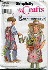 Childrens Apron Pattern Daisy Kingdom Sewing Pattern Simplicity 7856 Size S-M-L