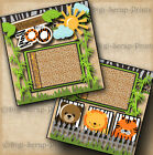 WELCOME TO THE ZOO 2 premade scrapbook pages paper piecing layout BY DIGISCRAP