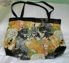 LOVE KITTENS AWESOME KITTEN PRINT SHOULDER BAG  SIZE 17X12 MACHINE WASHABLE