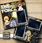 THE FORCE STAR WARS 2 premade scrapbook pages paper piecing layout DIGISCRAP