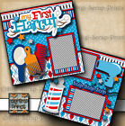 MY 1ST HAIRCUT BOY 2 premade scrapbook pages paper baby toddler BY DIGISCRAP