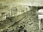 Hyde Park London FIRST LIFE GUARDS on PARADE 1882 Large Folio Antique Print