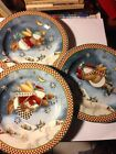 3 Snow Angel Village Salad Plates By Debbie Mumm