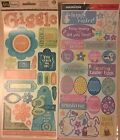 Scrapbooking Cardstock  Archival Quality Stickers 2 pieces Lot3 FREE SHIPPING